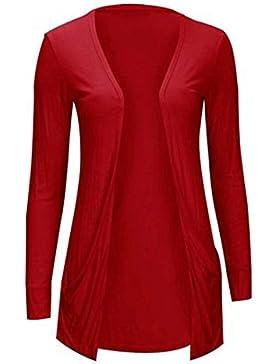 Body Plus - Cárdigan - para mujer rojo Large Large