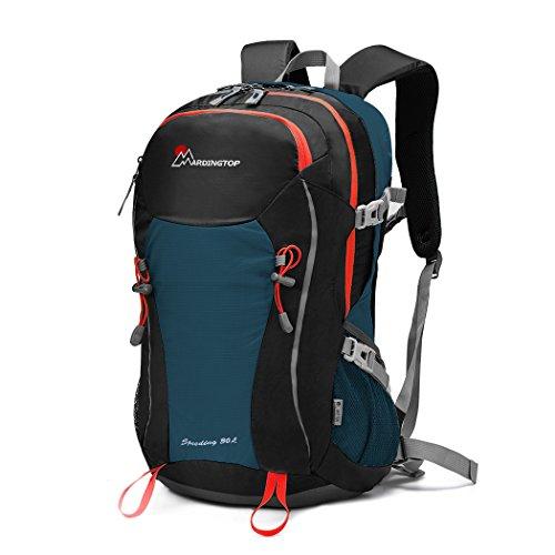 Mardingtop 30L Rucksack Wanderrucksack für Camping/Klettern/Reisen/Schultasche/Fahrrad, mit eine Regenschutz