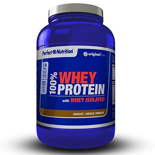 Proteine whey isolate 100% di proteine di lactosérum hydrolysées di alta qualita '–908g–aumenta la crescita muscolare e le prestazioni sportive. (cioccolato, 908gr)