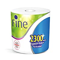 Fine Mega Roll Hand Towel Tissue, 2300 Sheets