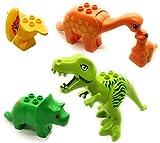 Aliris Jurassic World - 5 Dinosaurierspielzeug - Kompatibel mit Duplo - Dino Zoo Park T-Rex