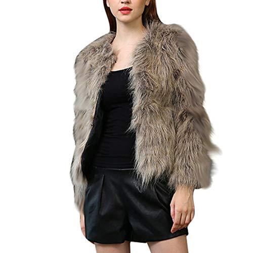 Tonsee  Manteau Femme, Nouvelle Mode Hiver Chaud Épaisse Manteau Pure Couleur Veste Fausse Fourrure Parka Outwear Cardigan
