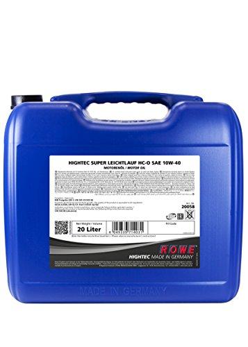 ROWE Hightec Super Leichtlauf 10W-40 HC-O - 20 Liter PKW Motoröl, vollsynthetisch (HC-Synthese) |...