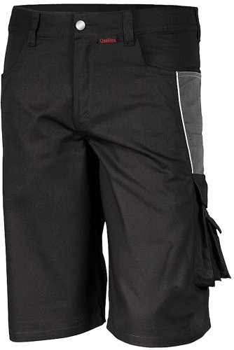 Qualitex PRO Shorts MG245 - schwarz/grau - Größe: 48