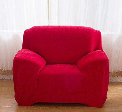 Housse de canapé épaisse et élastique en velours uni -Pour canapé 1, 2, 3 ou 4 places