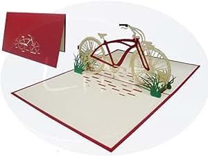 pop up 3d karte geburtstagskarte gutschein fahrrad venlo rot 155 b robedarf. Black Bedroom Furniture Sets. Home Design Ideas