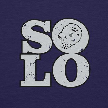 Planet Nerd - Solo Ship - Damen T-Shirt Dunkelblau