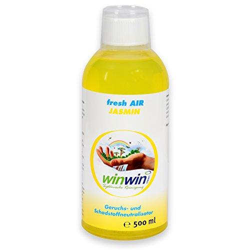 winwin clean Systemische Reinigung - Fresh AIR LUFTREINIGUNGSKONZENTRAT 'Jasmin' 500ML I AUCH BESTENS GEEIGNET FÜR proWIN AIR Bowl