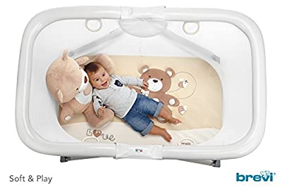 "'Brevi 587.553 Soft & Play Activity Center – Diseño ""My Little Bear, color crema"