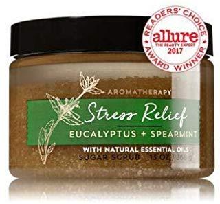 Bath & Body Works AROMATHERAPY Stress Relief Eucalyptus Spearmint Sugar Scrub 13 Fl Oz by Bath & Body Works - Spearmint Stress Relief