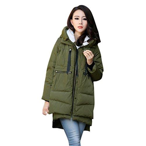 Mäntel Hoodie Damen Sunday Winter Frauen Warme Mäntel Verdickung Baumwolle Große Größe Oberbekleidung (Armee grün, M) (Solide Baumwolle Verdicken)