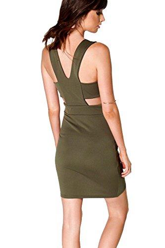 Elfenbein Damen Yana Plunge Schneiden Out Detail Bodycon Kleid Elfenbein