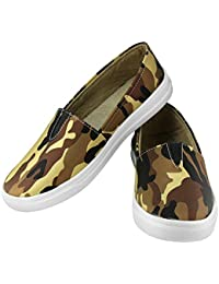Zapatoz Presents Women's/Ladies/Female/Girls Trendy Fashionable Lightweight Comfortable Partywear, Casual Camouflage Shoes for Women Stylish Sneakers/Loafer/Slip-On Shoes_(S-7-Brown)
