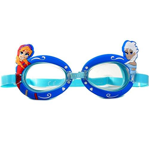 alles-meine.de GmbH 3-D Effekt _ Schwimmbrille / Chlorbrille / Taucherbrille -  Disney Frozen - die Eiskönigin  - Kinder von 2 bis 12 Jahre - verstellbar / wasserdicht & Anti B.. (Frozen-pool Disney)