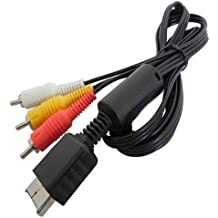 AV-Kabel für Sony Playstation PS1 PS2 PS3 Chinch TV Kabel Audio Video Scart Kabel Bildkabel Tonkabel Sony PS 1 2 3 Konsolen