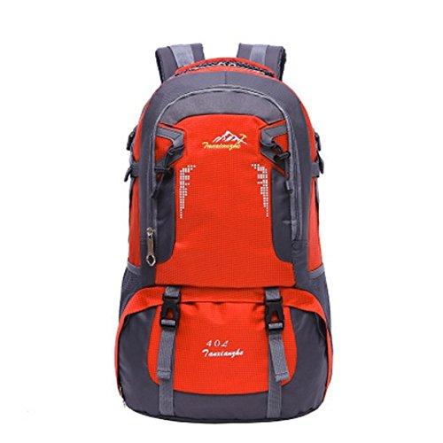 BULAGE Taschen Lässig Im Freien Einfach Mit Hohen Kapazität Tourismus Rucksäcke Schultern Rucksäcke Wasserdicht Abriebfest Orange