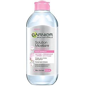 Garnier – Cuidado – agua micelar Sensitive Skin – Todo en 1 mini tamaño – Conjunto de 4