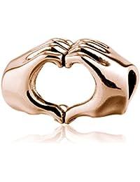 Soufeel Rosegold Geste der Liebe Beads 925er Sterling Silber Charms