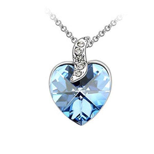 MSNHMU Silber Herz Halskette Mit Unendlichkeit Liebes Anhänger Schmuck,D-M