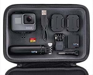 GoPro HERO5 Black - fotocamera digitale impermeabile fino a 10m, 4K, 30 fps + Shorty + Casey + MicroSD da 16 GB -  Nero