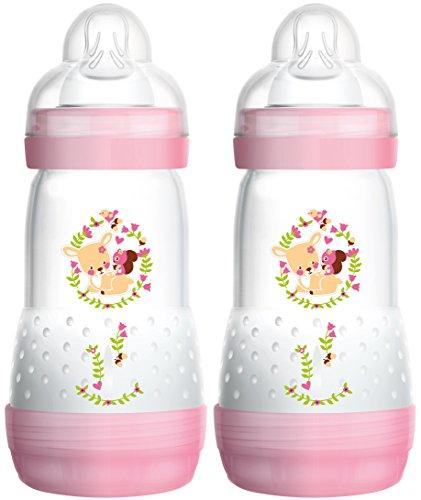 MAM 99921522 - Biberon anticolica da 260 ml per bambino, confezione doppia, colori assortiti