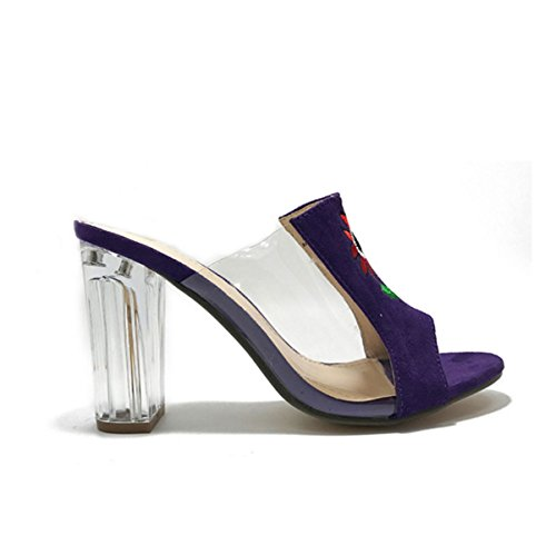Sandali Signora Pantofole Sandali Casuali Purple