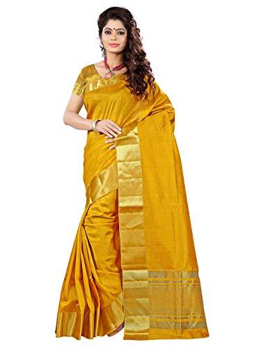E-Vastram Tassar Silk Saree(TAY_Yellow)