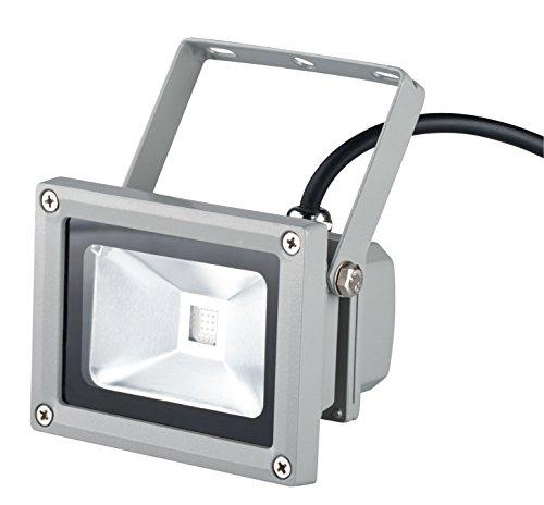 Trebs 10 Watt RGB Lampe inkl. Infrarot-Fernbedienung für Innen- und Außenbereich - multicolor (16 Farbnuancen), Farbwechsel, dimmbar Underwater Strobe Flash