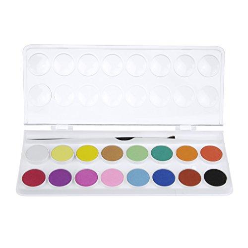 Aquarellfarben Set mit 16 Wasserfarben Paint Box mit Pinsel perfekte Geschenk für Kinder