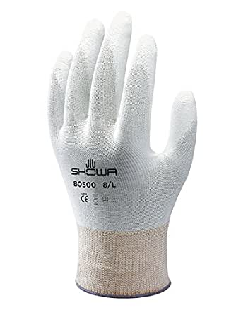 XX-Large Showa Gloves SHO370-XXL No.370 Palm Fit Glove White//Grey Size
