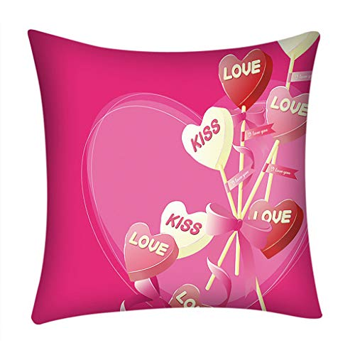 Dtuta Kopfkissenbezug,Valentinstag spezifisch Print Pillow Case Polyester Sofa Car Cushion Cover Home Decor