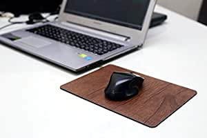 Ferro Hyde Wooden Finish Steel, Liquid and Heat Proof, Unbreakable Mouse Pad for Laptop/Computer (245x181mm) Brown