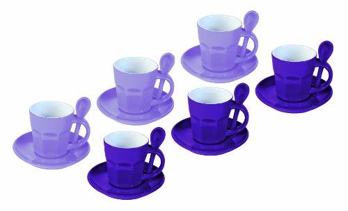 Juego de tazas de café (cerámica, diámetro: 5,8 cm, 6 comensales)