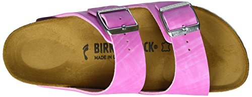 Birkenstock Arizona Birko-Flor Plateau, Sandales Plateforme femme Pink (Check Rose)