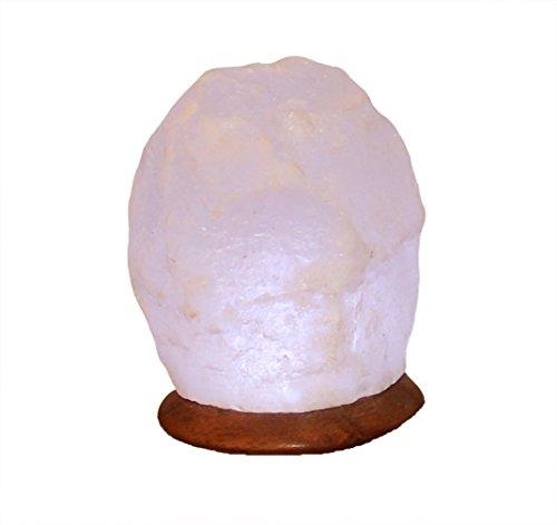 Himalaya Sel Dreams - beleuchteter Cristal USB Rock White Line avec Socle en Bois, avec USB LED électronique, pour Ordinateur et Ordinateur Portable