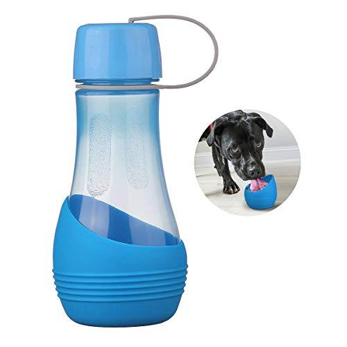 Royalcare bottiglia d'acqua per cani bpa-libero con ciotola rimovibile, beverino borraccia cane portatile perfetto per passeggiare, viaggio, turismo a piedi, campeggio con animali domestici