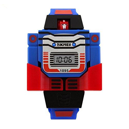 Uhren,Kinder Uhren,Teenager Uhren,Digitale Multifunktionale Uhren für den Outdoor und Sport.Wasserdichte elektronische Armbanduhr für Jugendliche Kinder mit Digitaler Anzeige,LED-Licht,Wecke (BlueRed)