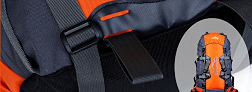 LQABW 80L Litri Multifunzionale Alpinismo Femminile Outdoor Sports Nylon Impermeabile Zaino Borsa A Tracolla Viaggio,Pink SapphireBlue