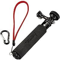 Hama Selfie-Stick 2in1, GoPro-Anschluss und ¼-Zoll-Gewinde (für Kameras, GoPro-ActionCams und Smartphones mit Halterung) ausziehbar bis 47 cm, schwarz