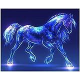 Espeedy Colorido caballo bricolaje diamante bordado pintura punto de Cruz kit redondo taladro de aguja de pintura de diamantes de imitación 30 * 40 cm
