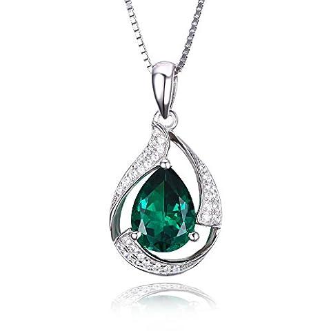 Jewelrypalace 2.5ct Luxus Grün Simulierte Nano Russischen Smaragd Anhänger Halskette