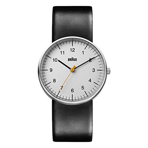Braun Mens Quartz Watch, Analogue Classic Display and Leather Strap BN0021BKG