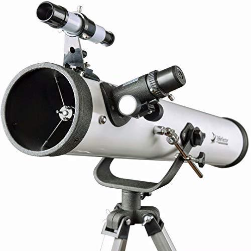 Telescopio 76700 Alcance para Principiantes - Reflector Travelscope 76 mm Apertura 700 mm Distancia Focal con Trípode y 1.25 Pulg