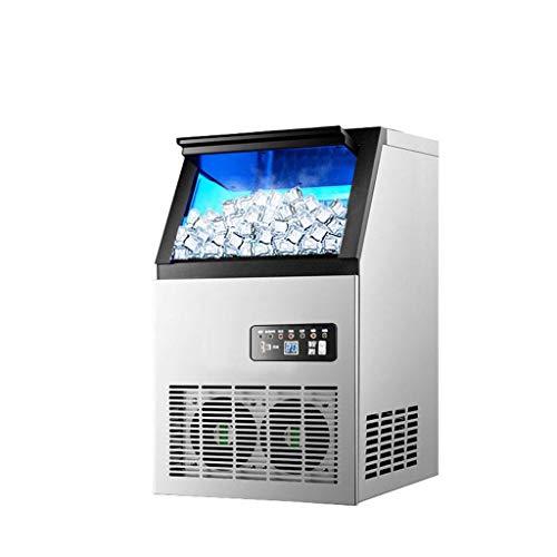 Kommerzielle Eismaschine 220v, GroßE Quadratische EiswüRfelmaschine, Automatische Reinigung, Blu-Ray-Sterilisation, Einteiliges SchäUmen, Schnelles Eis In 12 Minuten, Einstellbare Eisdicke
