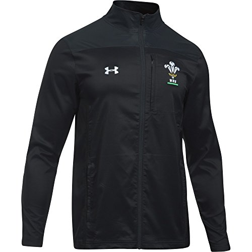 Under Armour 2018-2019 Wales Rugby WRU Travel Jacket (Black) Travel Jacket