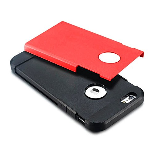 YAN Für iPhone 6 / 6s, Hybrid PC + TPU Tough Armor Farbe Hard Case Cover YAN ( Color : Gold ) Red