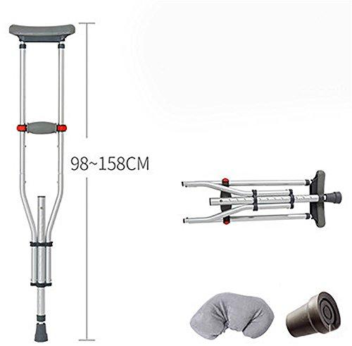 G&M Achsel Krücken Ältere Behinderte Behinderte Rüstung Einzelaluminiumlegierung Anti-Rutsch-Sticks können falte