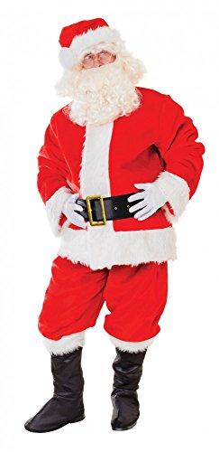 (shoperama Plüsch Kostüm Santa Claus für Herren Gr. L/XL Nikolaus Weihnachtsmann 11-teilig)