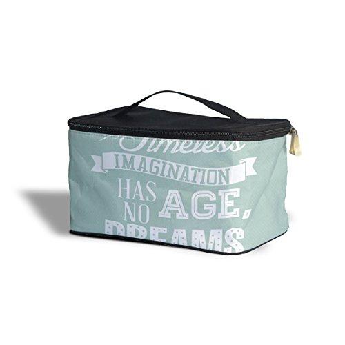 Queen of Cases Menthe Laughter is Timeless Citation de Walt Disney cosmétiques Maquillage étui de Rangement – Fermeture éclair Sac de Voyage, Green, One Size Cosmetics Storage Case