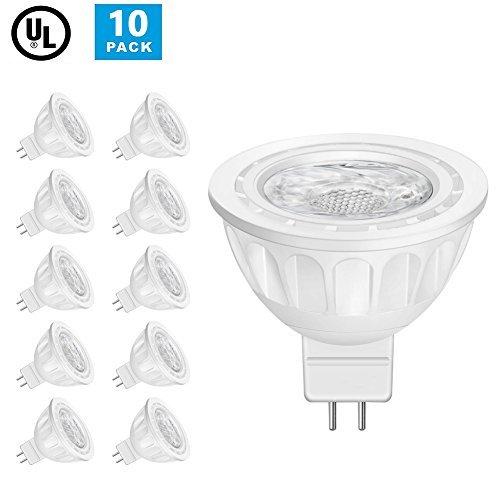 Lintelek MR16 Ampoules LED Spot, 12 Volts, 5W 500lm, 50W Ampoules Halogènes Equivalentes, 4000K Blanc Neutre, Ampoules LED MR16 GU5.3, 40 °Angle d'éclairage, Non-Dimmable, Homologuées UL, Lot de 10